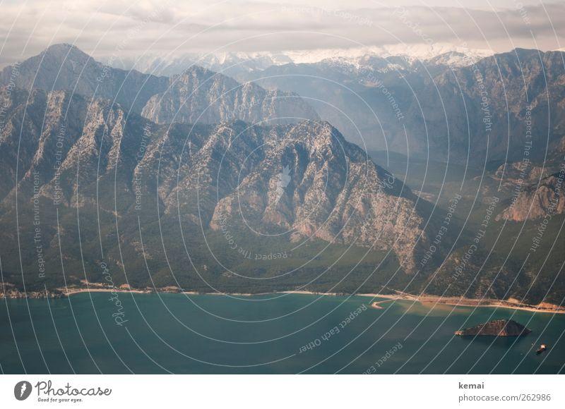 Türkiye Himmel Natur Wasser Ferien & Urlaub & Reisen Pflanze Meer Winter Wolken Ferne Umwelt Landschaft Berge u. Gebirge Küste Luft Felsen Klima