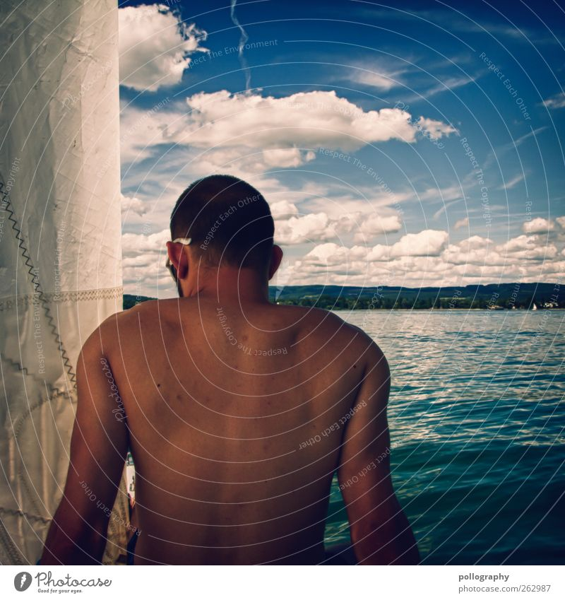 wann wird's mal wieder richtig sommer? Mensch Himmel Mann Natur Jugendliche Wasser Baum Ferien & Urlaub & Reisen Sommer Wolken Erwachsene Erholung Landschaft