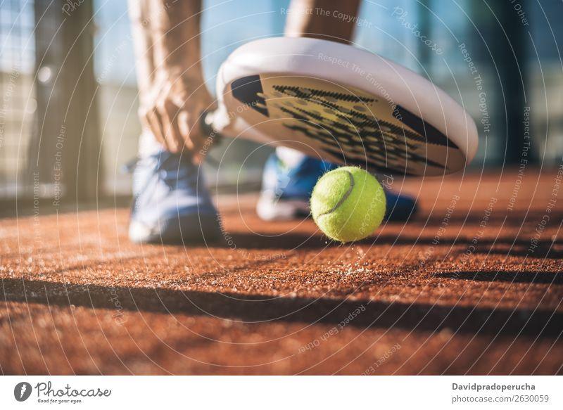 Sportler beim Padelspiel Glas Gerichtsgebäude Freude Feldfrüchte Freizeit & Hobby Außenaufnahme anonym zusammenpassen Bremse ruhen Paddel Padel-Tennis Spielen