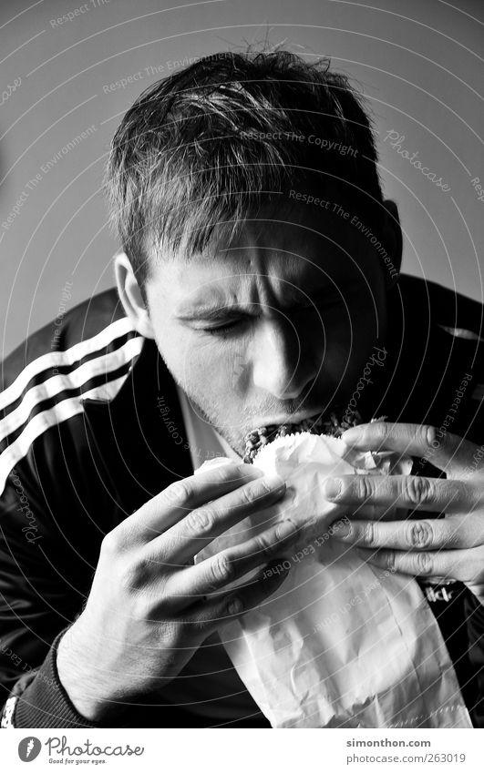 hunger Mensch Jugendliche Junger Mann Einsamkeit Freude Haare & Frisuren Lebensmittel Erfolg Ernährung Energie genießen lernen Studium Student Appetit & Hunger