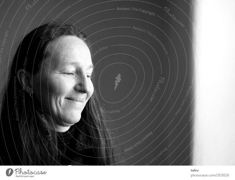 MARTI I Mensch Frau schön Erwachsene feminin Wärme Kopf Glück Zufriedenheit Fröhlichkeit einzigartig dünn Lebensfreude Leichtigkeit langhaarig Begeisterung