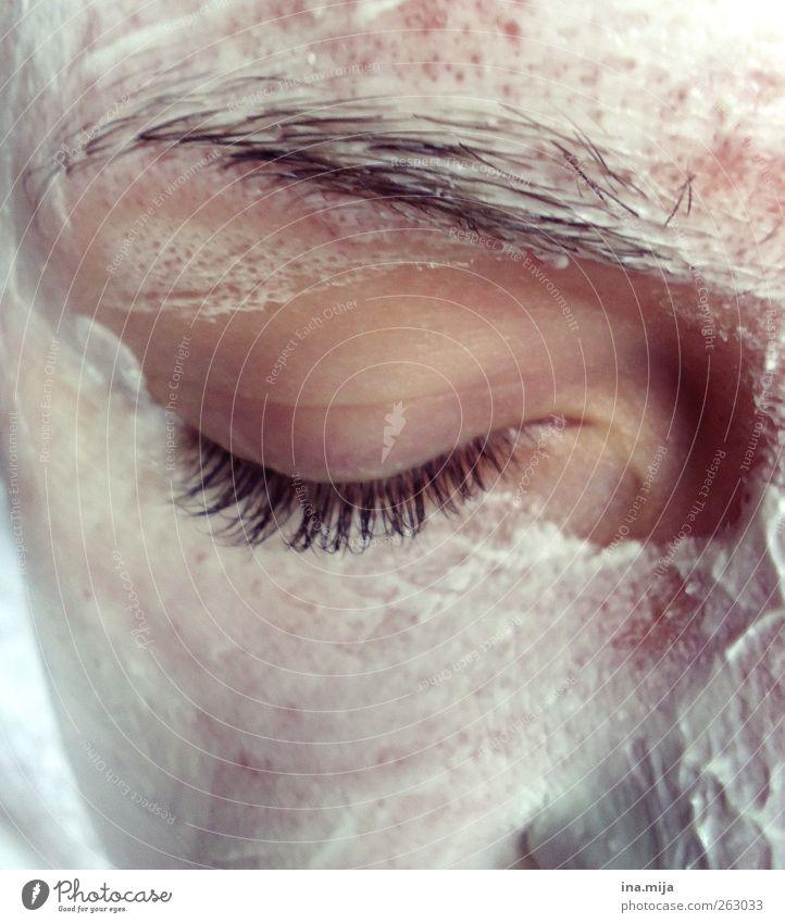 nicht nur zum Naschen gut Jugendliche schön ruhig Gesicht Erwachsene Auge Erholung feminin Haut 18-30 Jahre Junge Frau Maske Kosmetik Meditation Körperpflege