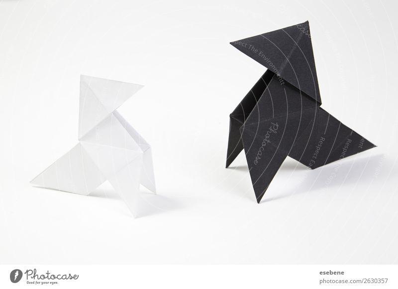 Zwei Origami-Bögen Design Freizeit & Hobby Handarbeit Freiheit Dekoration & Verzierung Handwerk Fliege Vogel machen einfach frei weiß Glaube Religion & Glaube