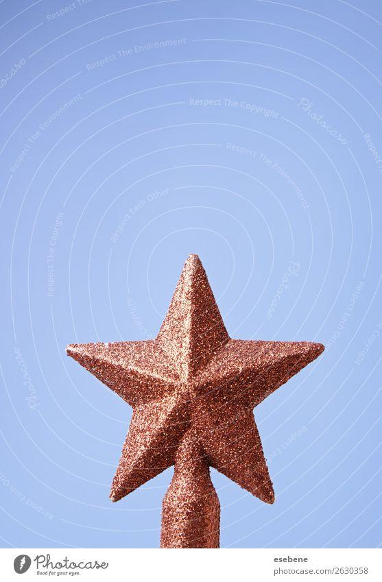 Weihnachtsstern am BaumWeihnachtsstern am Baum Winter Dekoration & Verzierung Feste & Feiern Kunst glänzend Fröhlichkeit hell neu blau gold rot weiß Farbe