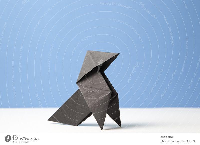 Bogen der Origami-Kunst Design Freizeit & Hobby Handarbeit Freiheit Dekoration & Verzierung Handwerk Vogel machen einfach frei blau Glaube Religion & Glaube