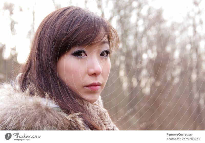 Girl lost in the woods. III feminin Junge Frau Jugendliche Erwachsene Kopf 1 Mensch 18-30 Jahre Freizeit & Hobby Baum Wald Waldlichtung Asiate Chinese Asien