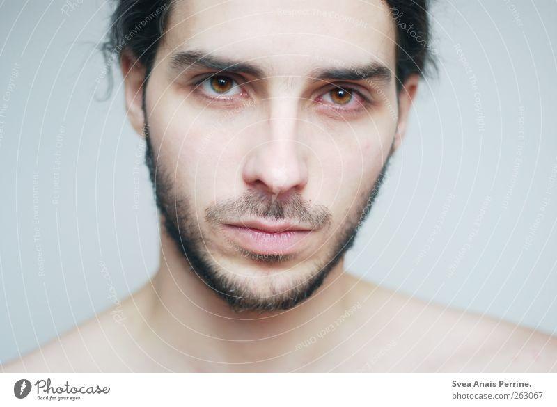 rein. schön Körperpflege Haut Gesicht Gesundheit maskulin Junger Mann Jugendliche Erwachsene 1 Mensch 18-30 Jahre Haare & Frisuren brünett Dreitagebart