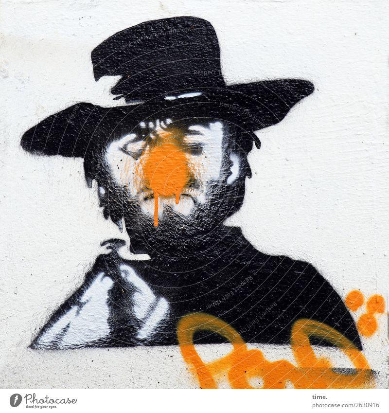 Verwandlung | l'art pour l'art, directe Mensch Mann Farbe dunkel Erwachsene Graffiti Wand lustig Kunst Mauer Stein Design hell Linie maskulin Kreativität
