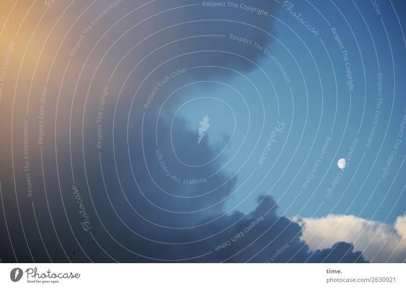 Großes Kino Himmel Wolken Mond Schönes Wetter Wind frei gigantisch Unendlichkeit natürlich schön Kraft Macht Geborgenheit authentisch Weisheit Ausdauer Reinheit