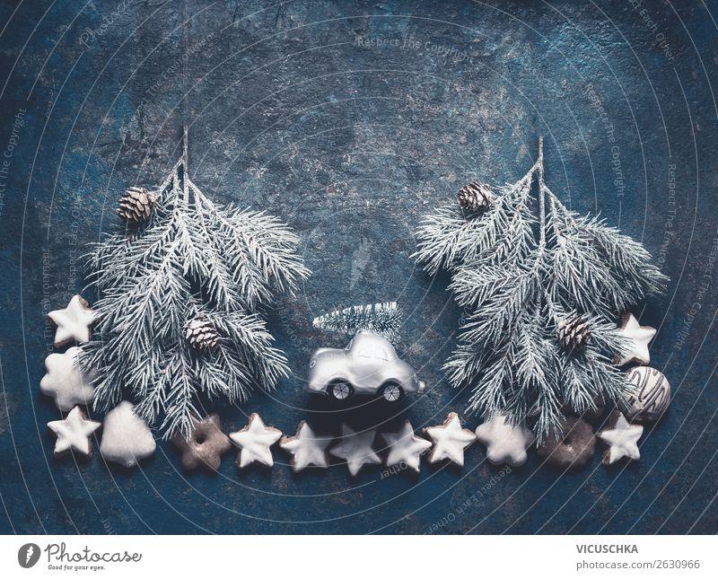 Weihnachten Composing mit Plätzchen und Weihnachtsbaum kaufen Stil Design Freude Winter Dekoration & Verzierung Feste & Feiern Weihnachten & Advent Schnee