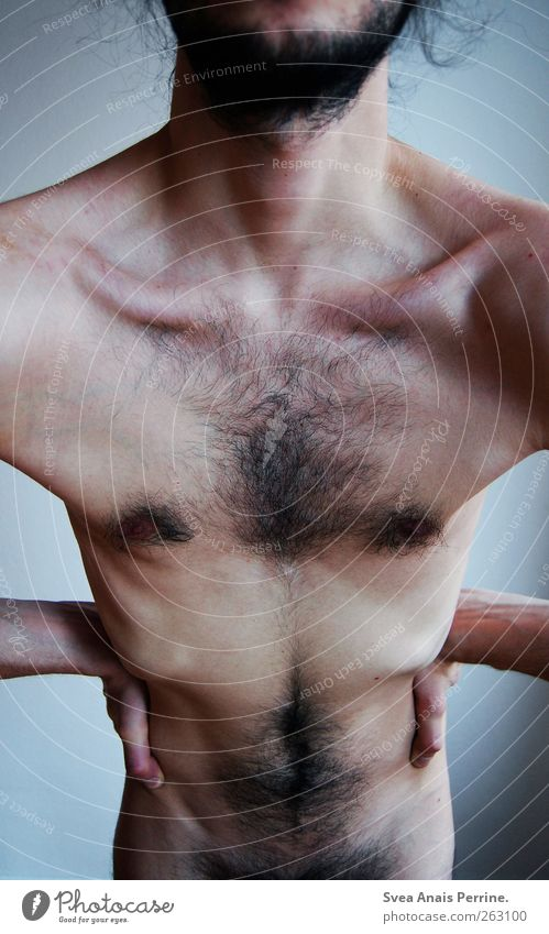 skurrilität II Mensch Mann Jugendliche Erwachsene Körper Haut maskulin außergewöhnlich 18-30 Jahre Körperhaltung dünn Junger Mann Brust Bart Bauch Körperteile