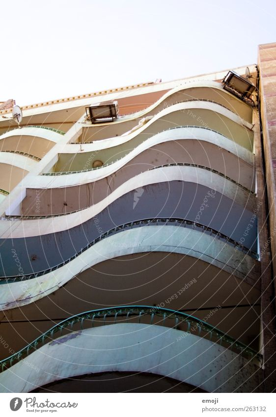 rainbow slum II Stadt Haus Wand Architektur Mauer Gebäude Fassade Hochhaus Bauwerk Balkon Kurve Elendsviertel