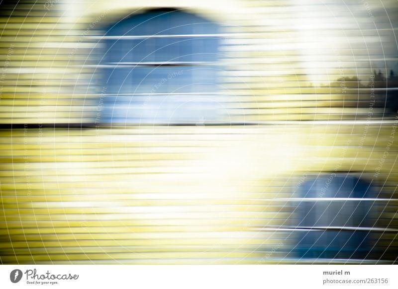 rush-hour II blau Ferien & Urlaub & Reisen Haus gelb Straße Fenster Wand Bewegung Stein Mauer Glas Fassade fliegen Beton modern Wandel & Veränderung