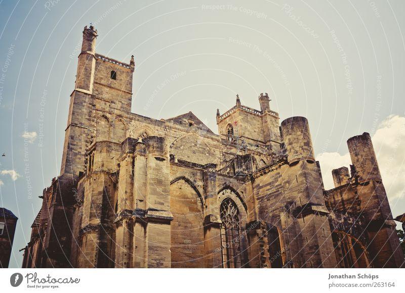St-Just-et-St-Pasteur de Narbonne II Himmel alt Architektur Religion & Glaube Stein Gebäude braun Kirche Macht Bauwerk aufwärts Frankreich Gott Dom