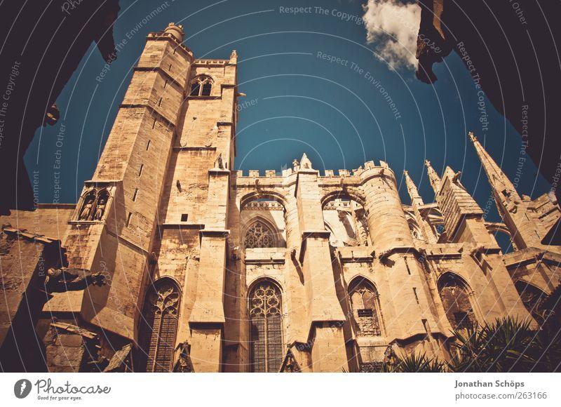 St-Just-et-St-Pasteur de Narbonne IV alt Architektur Religion & Glaube Gebäude Kirche Macht Spitze Bauwerk historisch Säule aufwärts Frankreich Gott Dom