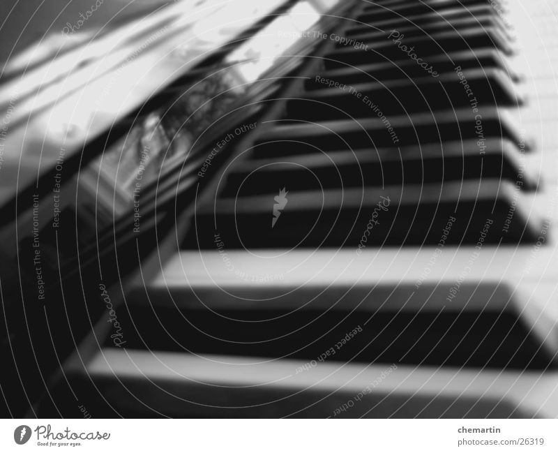 Klavier Klaviatur schwarz weiß Klassik Musik Schwarzweißfoto modern