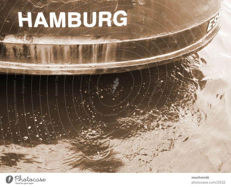 HAMBURG Wasserfahrzeug Hamburg Hafen Sepia
