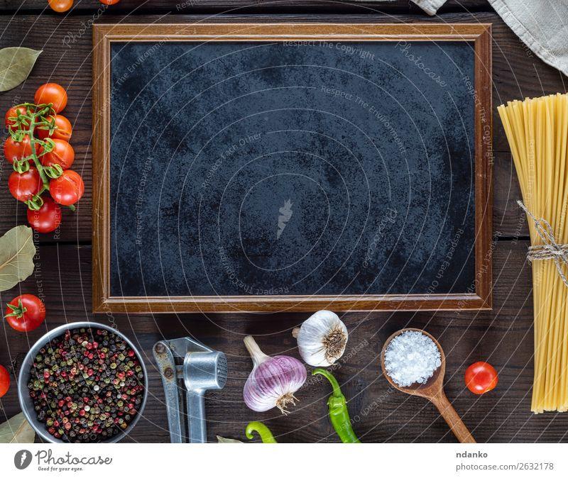Farbe rot schwarz Holz gelb Textfreiraum braun oben Linie frisch groß Kräuter & Gewürze Gemüse Backwaren Tradition lang