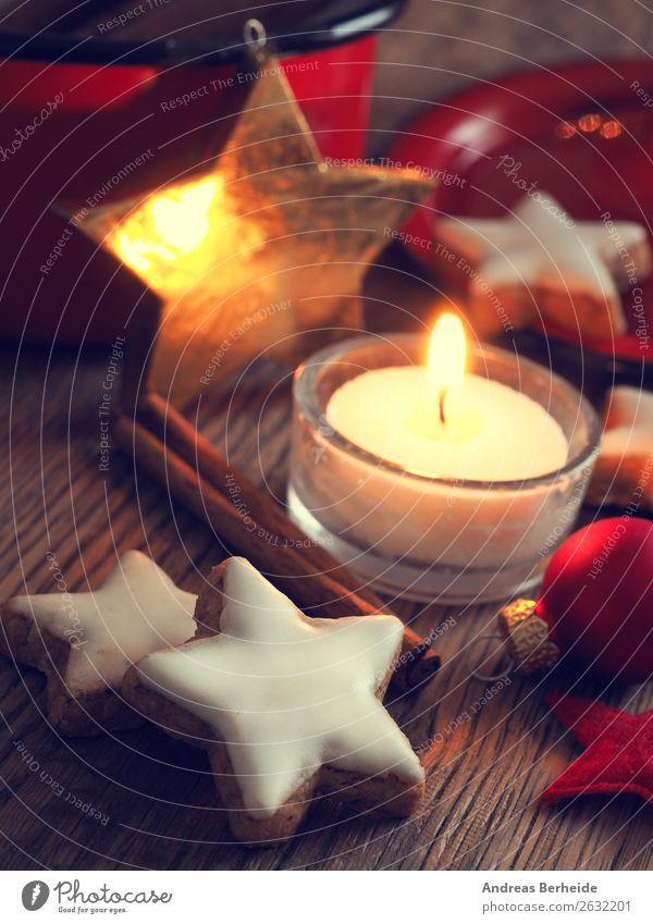 Besinnliches Dessert Süßwaren Kräuter & Gewürze Stil Winter Dekoration & Verzierung Feste & Feiern Weihnachten & Advent Kerze gelb Frieden Religion & Glaube