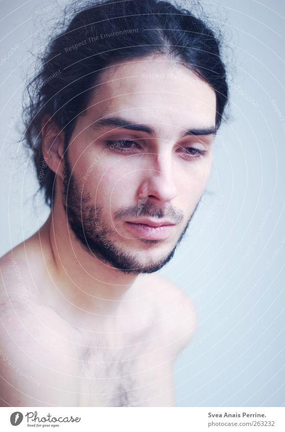 kosmonautenträume. Mensch Mann Jugendliche schön Gesicht Erwachsene Haare & Frisuren Haut maskulin 18-30 Jahre nachdenklich Junger Mann Bart Schulter schwarzhaarig Männergesicht