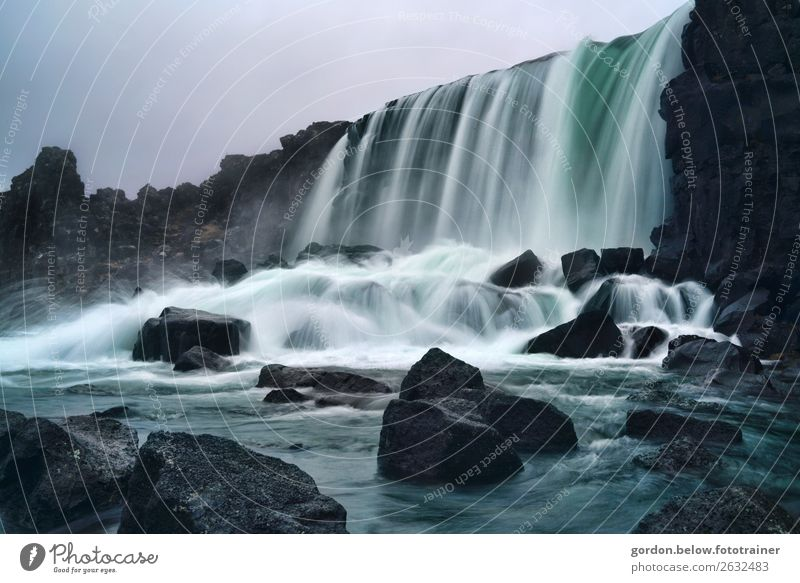 #Island, Wasserkraft Himmel Natur Sommer Pflanze blau Landschaft weiß schwarz Bewegung Stein grau Felsen Luft Lebensfreude fantastisch