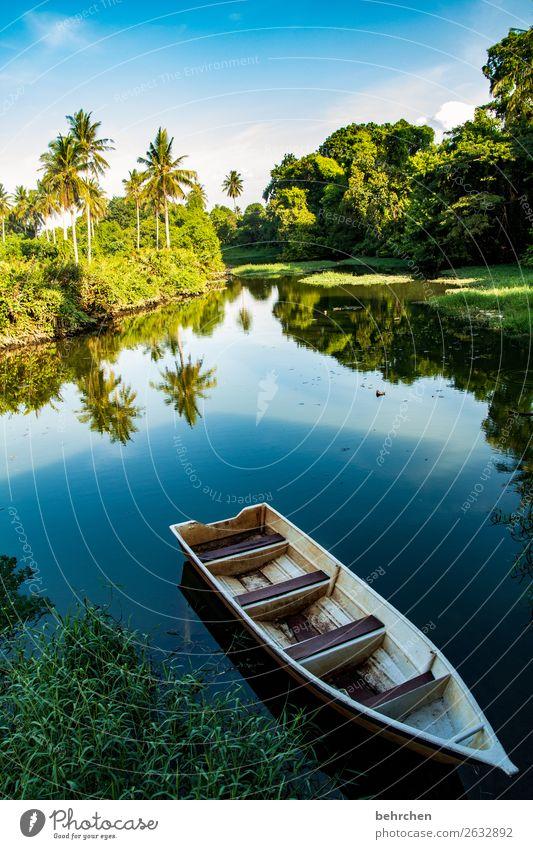 in der ruhe liegt die kraft Himmel Ferien & Urlaub & Reisen Natur Wasser Landschaft Baum ruhig Ferne Tourismus außergewöhnlich Freiheit Wasserfahrzeug Ausflug