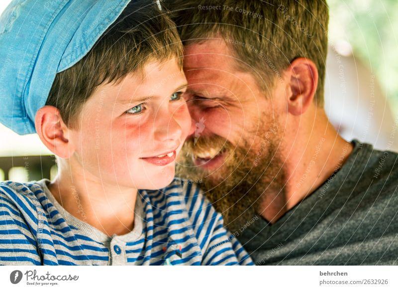 einfach liebe Mensch maskulin Kind Junge Mann Erwachsene Eltern Vater Familie & Verwandtschaft Kindheit Kopf Haare & Frisuren Gesicht Auge Ohr Nase Mund Lippen
