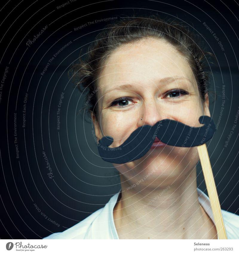 und was kochen wir heute? Körper Haare & Frisuren Haut Gesicht Mensch feminin Frau Erwachsene Bart 1 Accessoire Schmuck Piercing Fröhlichkeit lustig Maske