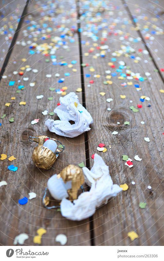 Feucht-Fröhlich weiß Holz Party Stimmung Feste & Feiern braun gold Geburtstag Papier Silvester u. Neujahr Karneval Veranstaltung Jahrmarkt trendy Entertainment