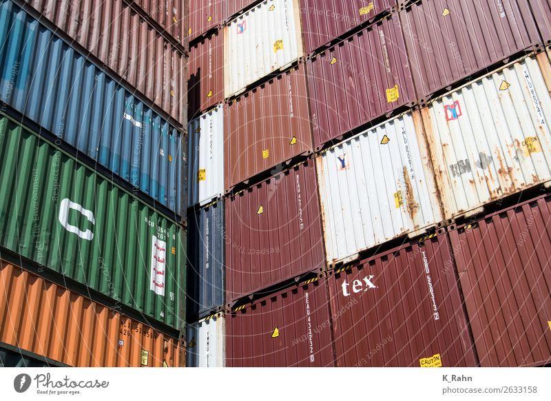 """Container im Hamburger Hafen Internet Schifffahrt Binnenschifffahrt Containerschiff kaufen """"behälter business cargo contaiernterminal containerhafen"""