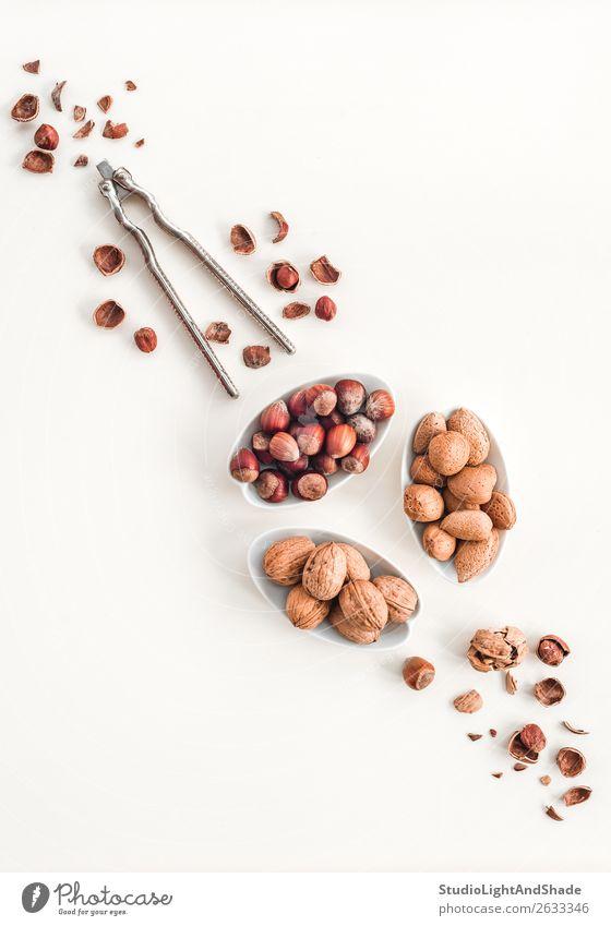 weiß Gesundheit Lebensmittel Essen natürlich Textfreiraum braun Ernährung frisch Bioprodukte Essen zubereiten Vegetarische Ernährung Schalen & Schüsseln Diät