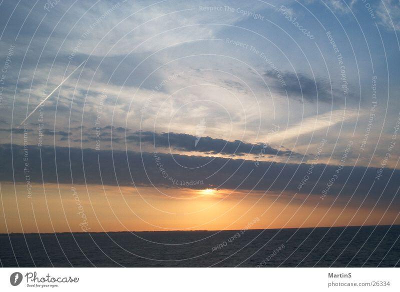 Sonnenaufgang Meer Wolken Licht Wasser Ostsee Himmel
