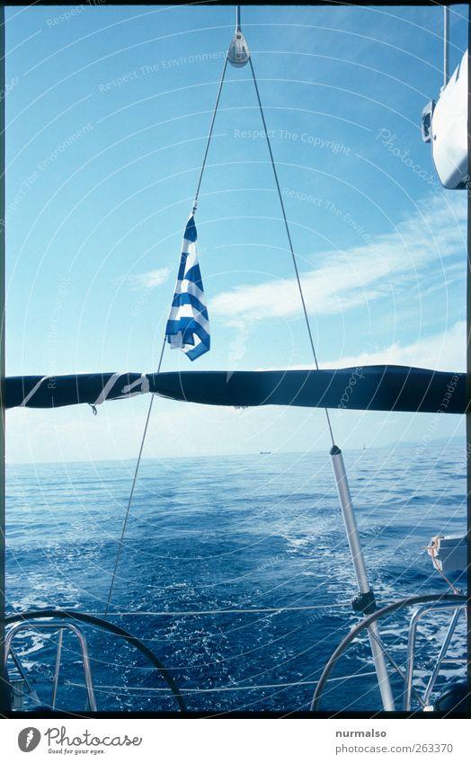 schlappes Griechenland Natur Wasser Ferien & Urlaub & Reisen Meer Sommer Ferne Erholung Umwelt Landschaft Freiheit Wasserfahrzeug Wellen Wind Schwimmen & Baden