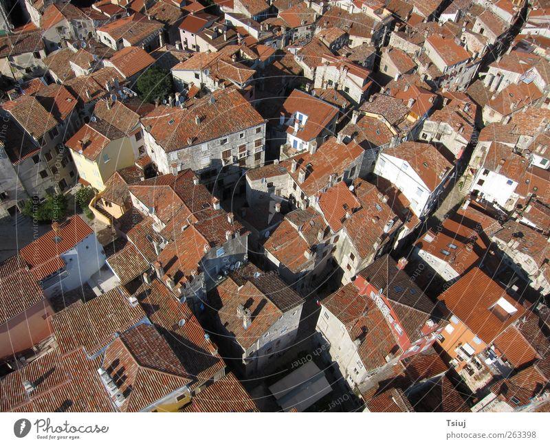 Über den Dächern der Stadt alt rot Ferien & Urlaub & Reisen Haus außergewöhnlich Dach Kite Aerial Photography