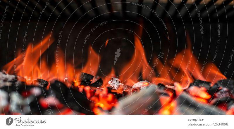 Grillkohle Feuer Glut | Panorama Ernährung Ferien & Urlaub & Reisen Sommer Grillen Rost Grillrost Wärme heiß Fleisch Panorama (Bildformat) header Frühling