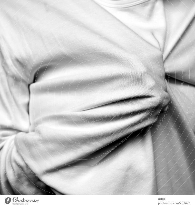 Aggression Mensch weiß Leben Gefühle Stimmung Körper wild bedrohlich Stoff stark Wut Gewalt machen Pullover falsch Aggression