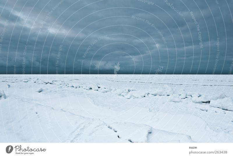Eiswüste Himmel Natur blau Meer Strand Einsamkeit Wolken Winter Landschaft Umwelt dunkel kalt Schnee Küste Horizont