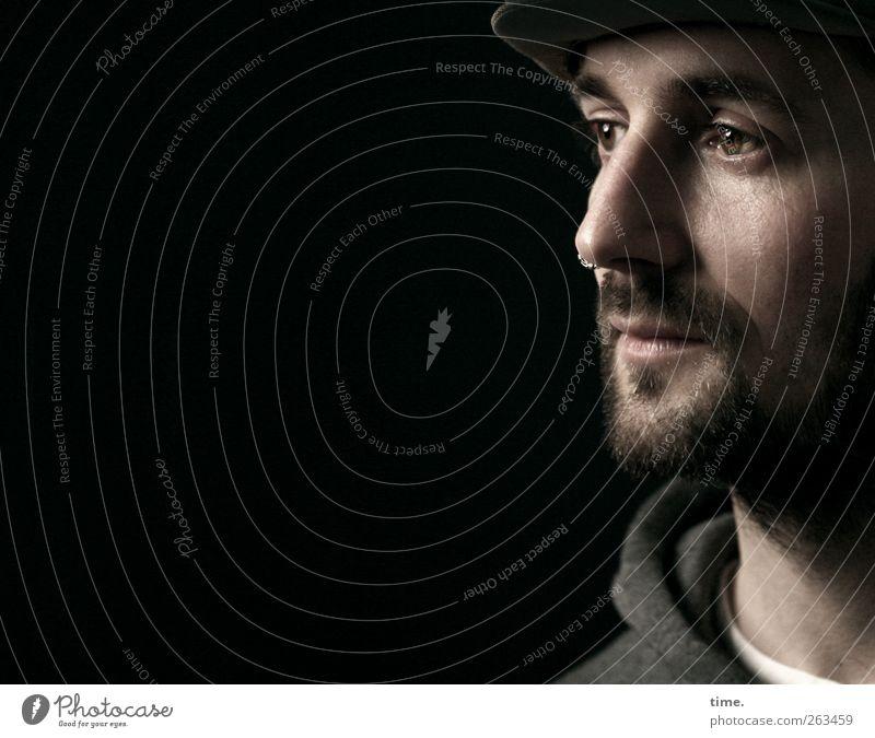... meine Freiheit Mensch maskulin Mann Erwachsene Kopf Gesicht Auge Nase Mund Bart 1 30-45 Jahre Zufriedenheit Konzentration Sinnesorgane Farbfoto