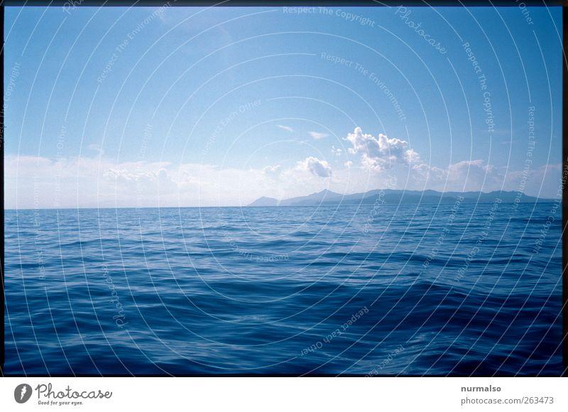 Ferne Inseln bereisen Lifestyle Freizeit & Hobby Schwimmen & Baden Segeln Natur Landschaft Wasser Wolken Horizont Sommer Klima Klimawandel Wind Meer