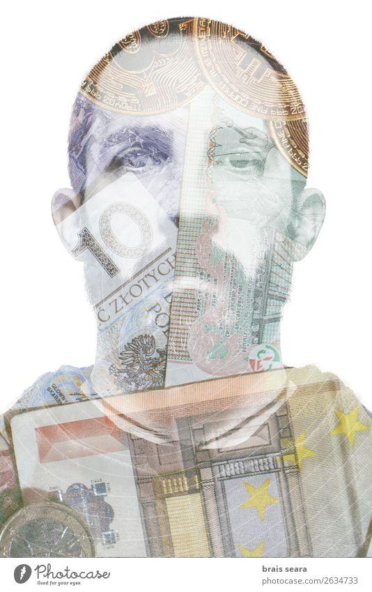 Mann Gesicht Lifestyle Erwachsene Business Kunst Arbeit & Erwerbstätigkeit maskulin Kreativität Armut Geld Internet Geldinstitut Model Reichtum Wirtschaft