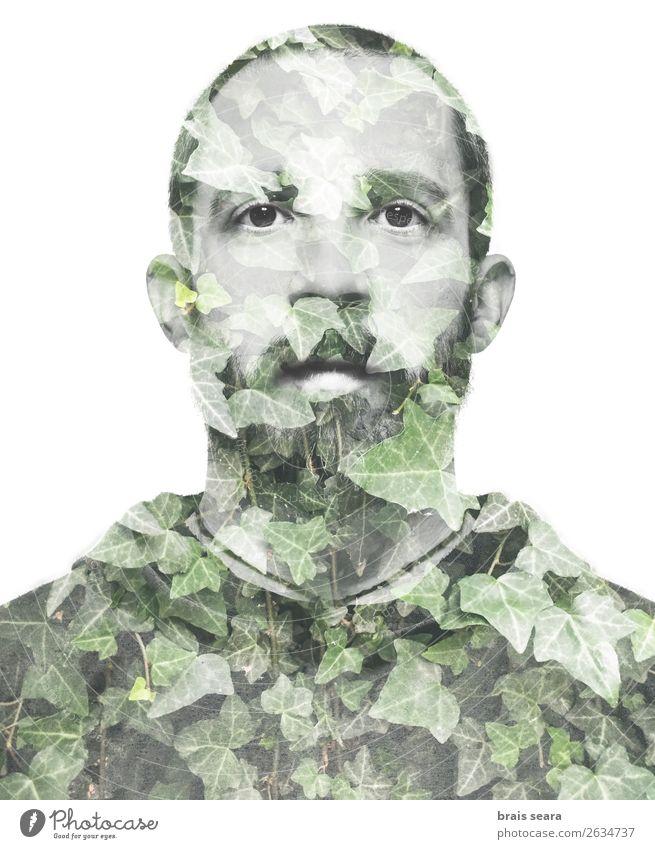Mensch Natur Jugendliche Mann Pflanze schön grün Junger Mann Erotik Wald Gesicht Erwachsene Umwelt lustig Business Kunst