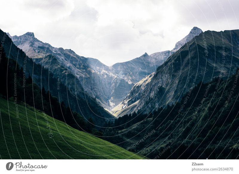 Allgäu | Trettachtal Natur Ferien & Urlaub & Reisen Sommer Landschaft Berge u. Gebirge Umwelt wandern Wetter Idylle Abenteuer Gipfel Alpen geheimnisvoll Tal