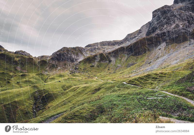 Mädelejoch im Allgäu Ferien & Urlaub & Reisen wandern Natur Landschaft Wetter Wiese Alpen Berge u. Gebirge Gipfel gigantisch hoch grün Abenteuer Einsamkeit