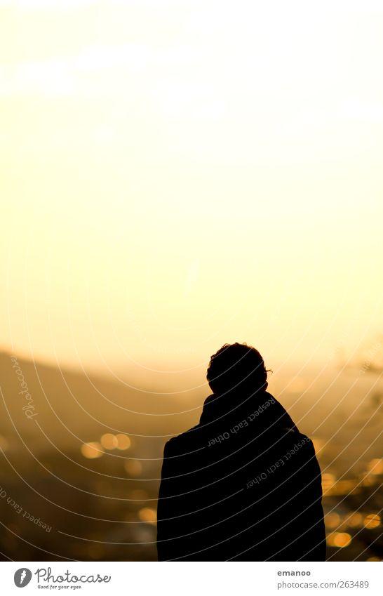 golden sunset Mensch Himmel Mann Stadt Ferien & Urlaub & Reisen Sonne Freude Erwachsene gelb Wärme Körper gold Freizeit & Hobby maskulin Lifestyle Aussicht
