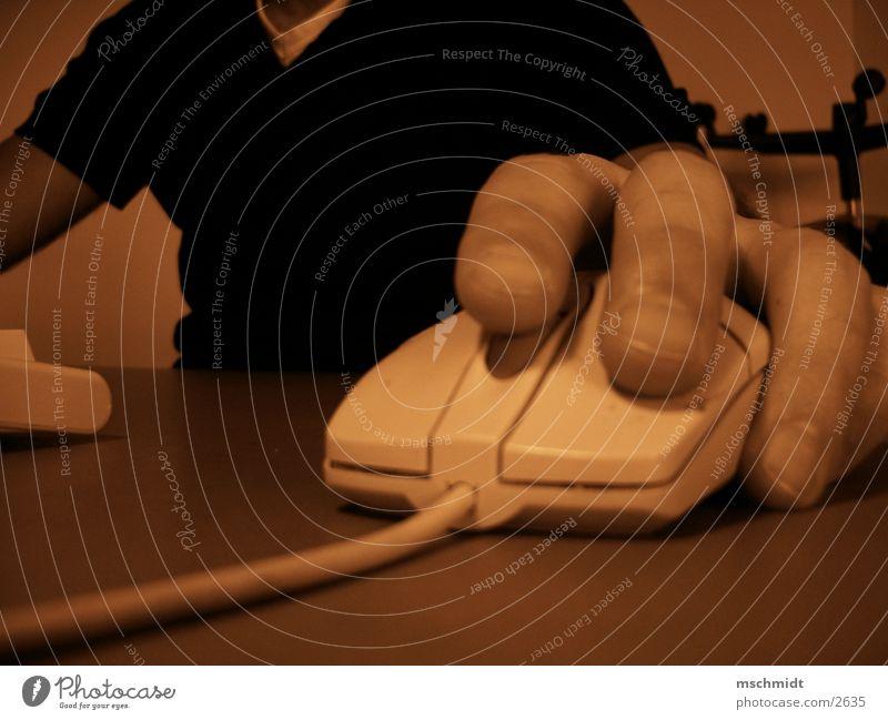 CKLICK! Mensch Hand Computer Technik & Technologie Computermaus hören Elektrisches Gerät Klacken
