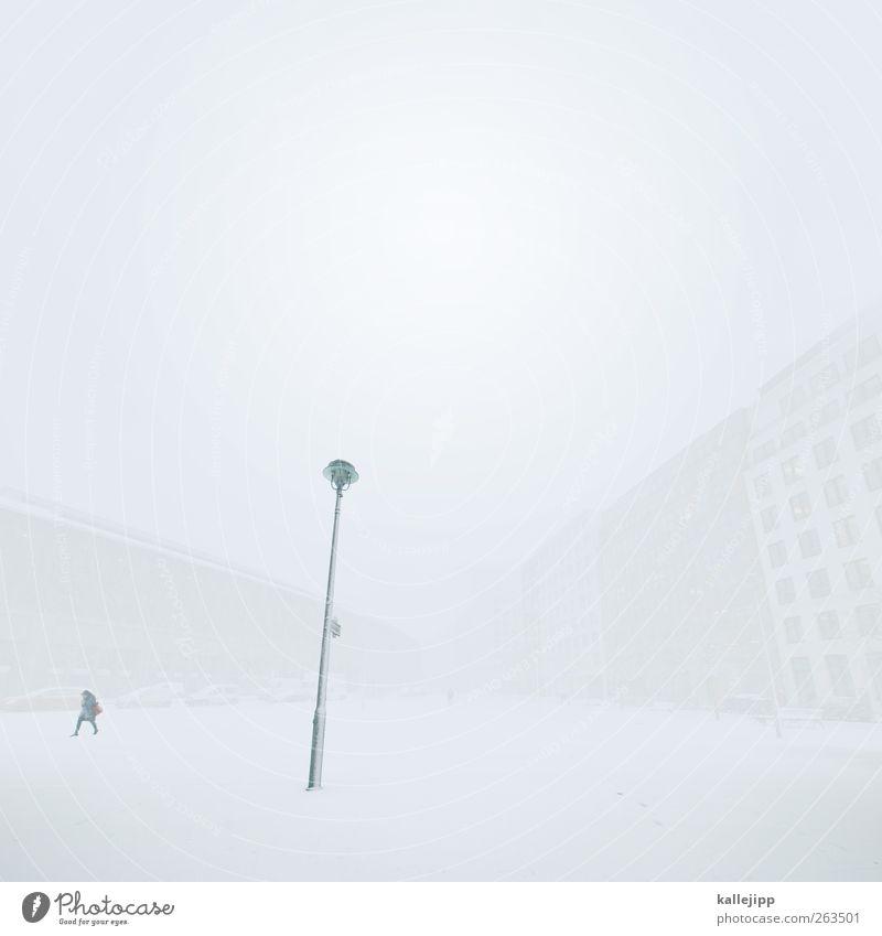 weißraum Mensch Natur Stadt Haus Winter Umwelt Berlin außergewöhnlich gehen Schneefall Eis Platz Klima Frost Straßenbeleuchtung Laterne