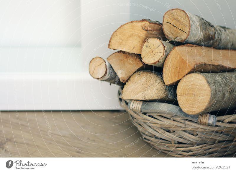genug Holz vor der Hütten braun Dekoration & Verzierung Symbole & Metaphern Stapel Korb heizen Brennholz Holzstapel