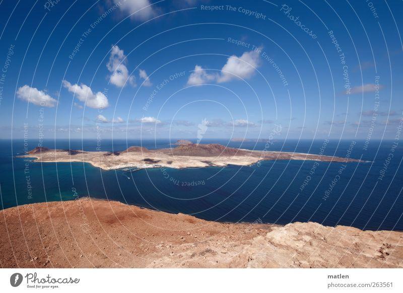 la isleta Landschaft Erde Sand Wasser Himmel Wolken Sonnenlicht Schönes Wetter Felsen Berge u. Gebirge Küste Meer Insel Dorf Menschenleer Fähre Hafen trocken