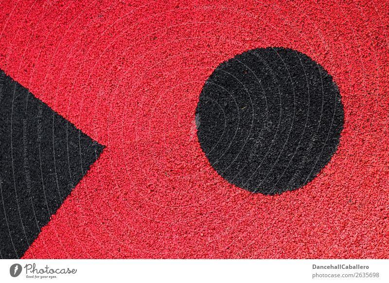 Die wunderbare Welt der Geometrie l 9 Zeichen Linie Kreis dreckig rund rot schwarz Design Kreativität Symmetrie Strukturen & Formen Spitze abstrakt graphisch