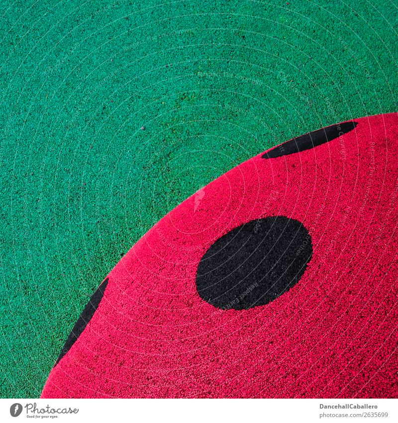 Die wunderbare Welt der Geometrie l 10 grün rot schwarz Design Kreativität Kreis Zeichen rund Punkt graphisch Käfer gepunktet Marienkäfer Grafische Darstellung